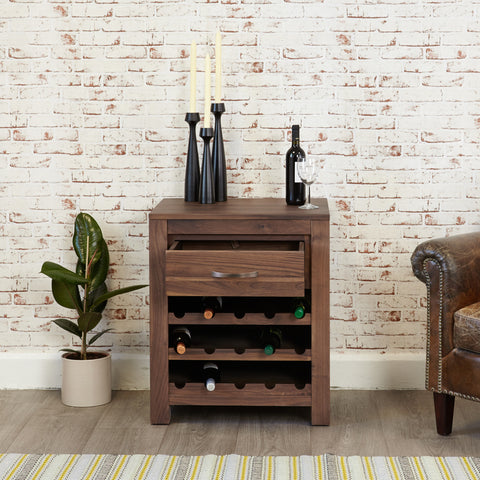 Baumhaus Mayan Wine Rack Lamp Table