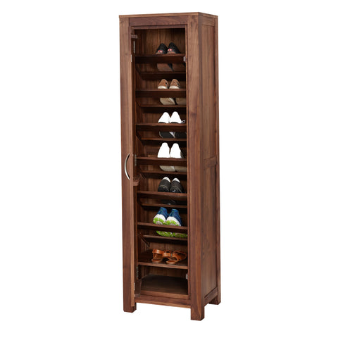 Baumhaus Mayan Walnut Tall Shoe Cupboard