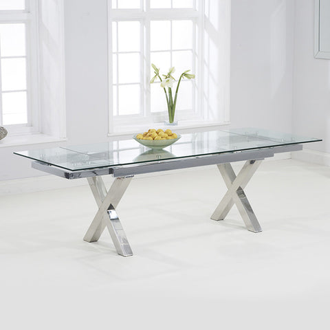 Mark Harris Cilento Glass Extending Dining Table