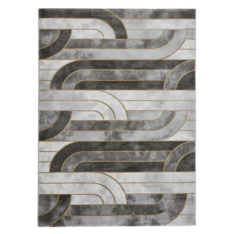 Think Rugs Craft 23430 Grey/Gold