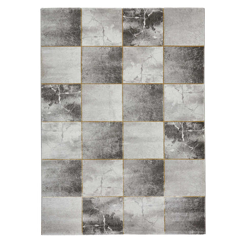 Think Rugs Craft 23495 Grey/Gold