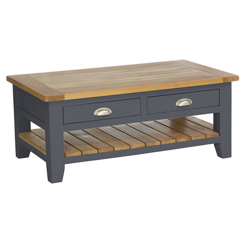 Rustic Rectangular Coffee Table -Down Pipe - Living Room by Besp-Oak available from Harley & Lola - 1