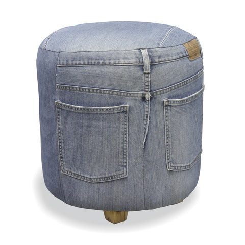 Genoa Full Denim Round Stool