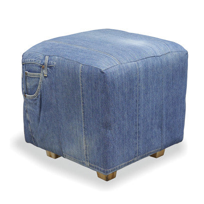 Genoa Full Denim Square Stool