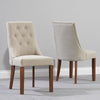 Mark Harris Pailin Dark Oak Chairs (Pair)