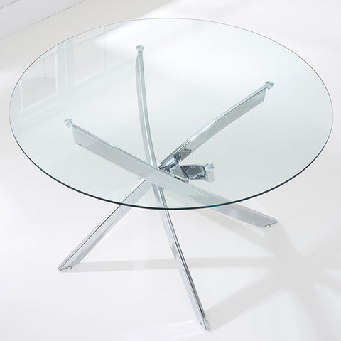 Daytona 120cm Round Glass Dining Table