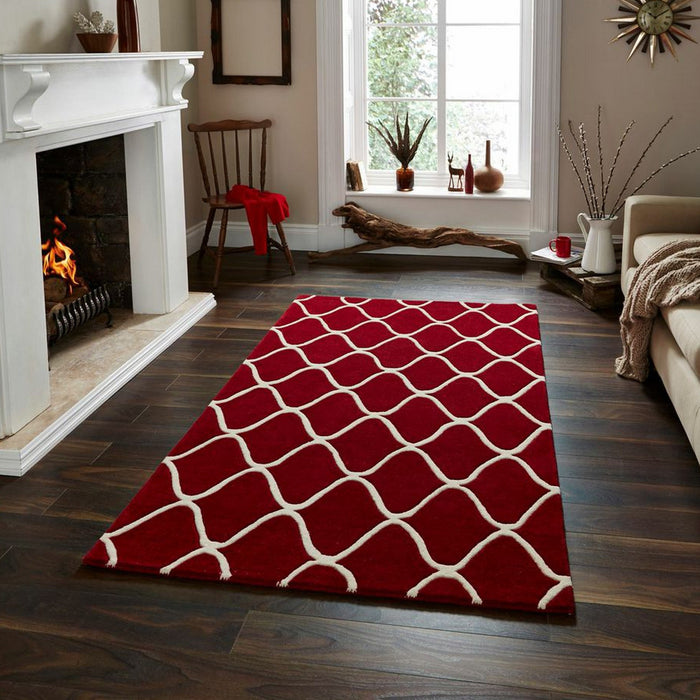 Elements Red - - Rugs by Think Rugs available from Harley & Lola - 2