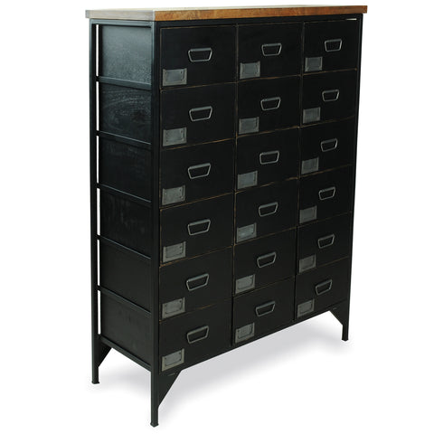 Hoxton Black Large Chest of Drawers
