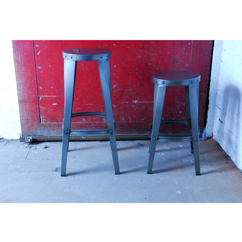 Hoxton Steel Toolshop Stool - - Living Room by Bluebone available from Harley & Lola
