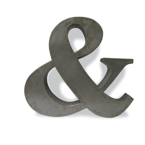 Hoxton 'Ampersand' Metal Sheet Wall Art
