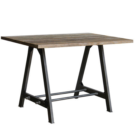 Hoxton Teak Table -Hoxton Table 120 x 80 Teak & Iron - Living Room by Bluebone available from Harley & Lola