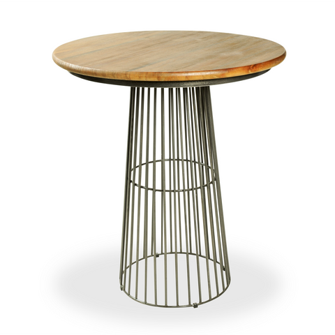 Hoxton Birdcage Bar Table with Mango Wood Top