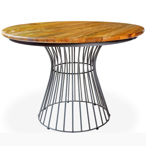 Manteak Weggon Birdcage Round Bistro Dining Table