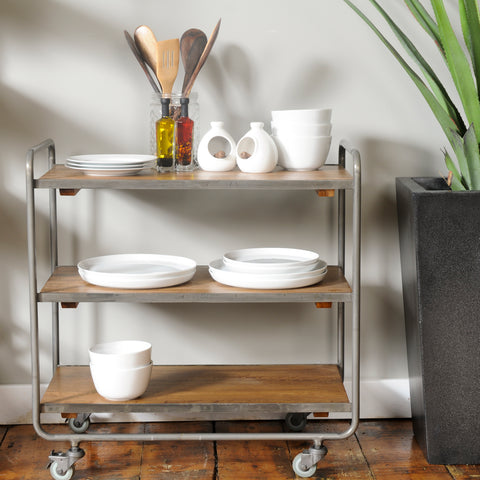 Hoxton Mango Wood Kitchen Trolley