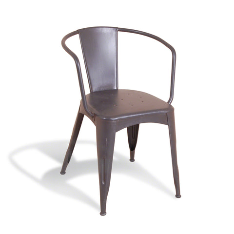Hoxton Steel Chair -Grey - Living Room by Bluebone available from Harley & Lola
