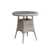 Oseasons® Eden Rattan 2 Seater Bistro Dining Set in Chic Walnut with Granite Effect Glass