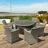 Oseasons® Eden Rattan 6 Seater Dining Set in Chic Walnut