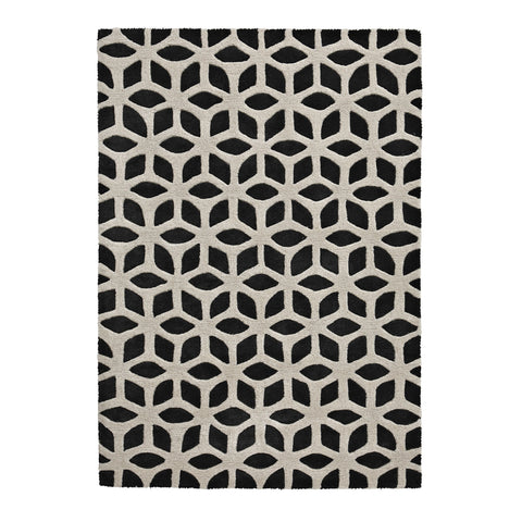 Fusion Black/Cream - - Rugs by Think Rugs available from Harley & Lola - 1