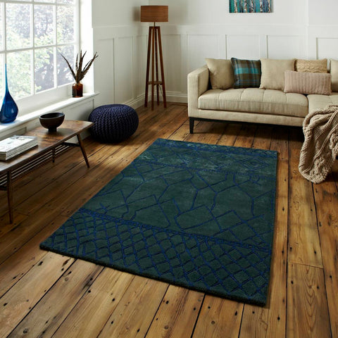 Fusion Green Rug by Harley and Lola