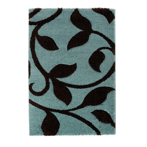 Think Rugs Fashion Blue/Brown