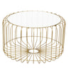 Hoxton Birdcage Round Coffee Table Gold with Glass Top