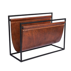 ManTeak Broden Leather Sling Magazine Rack