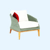 Grace Armchair -Platinum - Garden & Conservatory by Westminster available from Harley & Lola - 4