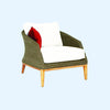 Grace Armchair -Sand - Garden & Conservatory by Westminster available from Harley & Lola - 3
