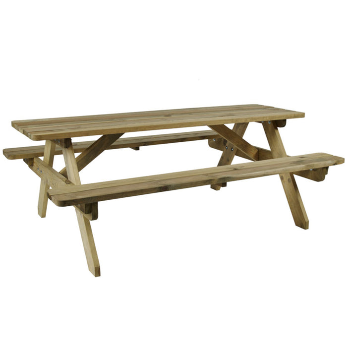 ZAP Hereford Picnic Table - 6 Seater