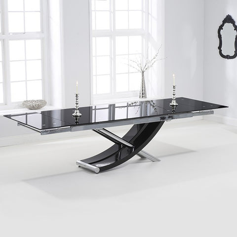 Mark Harris Hanover Glass Extending Dining Table