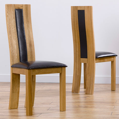 Mark Harris Havana Brown Dining Chairs (Pair)