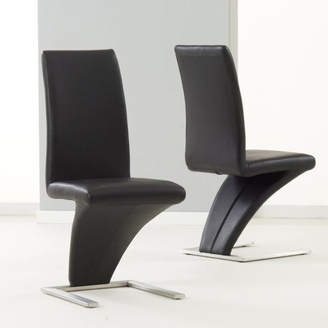 Hereford PU Leather & Chrome Chairs (Pair)
