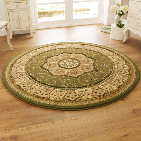 Think Rugs Heritage 4400 Green Circle