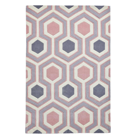 Think Rugs Hong Kong 3661 Grey/Rose