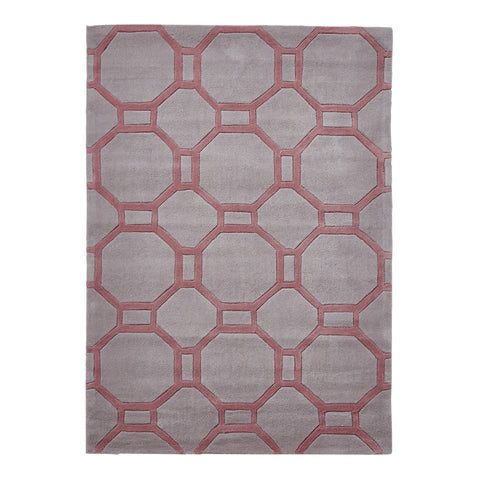 Think Rugs Hong Kong Grey/Rose