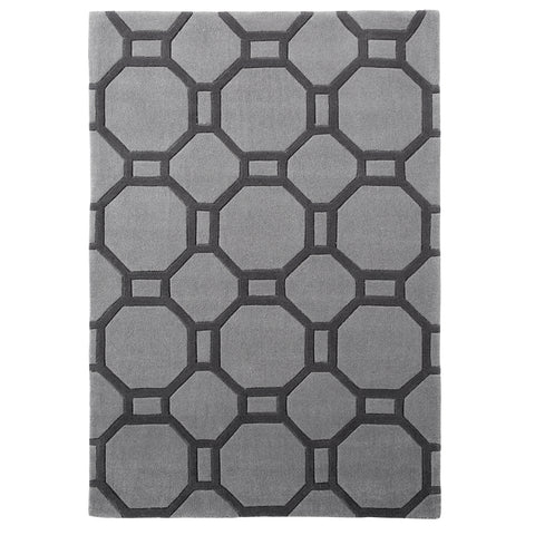 Think Rugs Hong Kong Grey Shapes