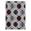 Think Rugs Hong Kong Cream/Dark Purple