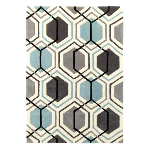 Think Rugs Hong Kong Grey/Blue