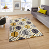 Think Rugs Hong Kong Grey/Yellow
