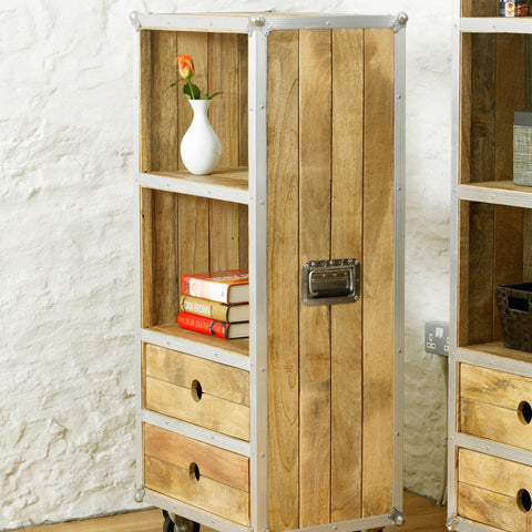 Roadie Chic Low Bookcase (with drawers)