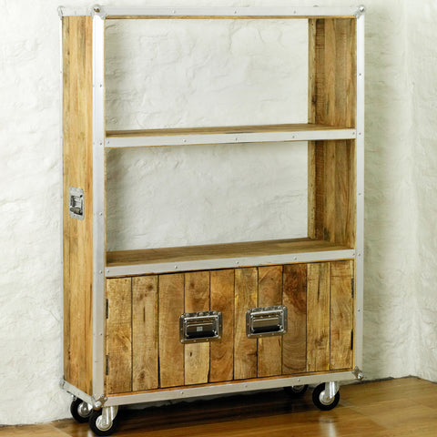 Roadie Chic Large Bookcase (with doors) - - Living Room by Baumhaus available from Harley & Lola - 1