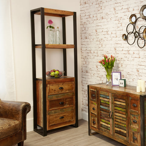 Urban Chic Alcove Bookcase (with drawers) - - Living Room by Baumhaus available from Harley & Lola - 1