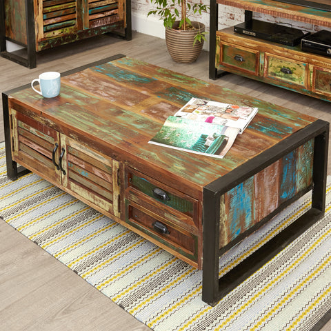 Urban Chic Four Drawer Large Coffee Table - - Living Room by Baumhaus available from Harley & Lola - 1