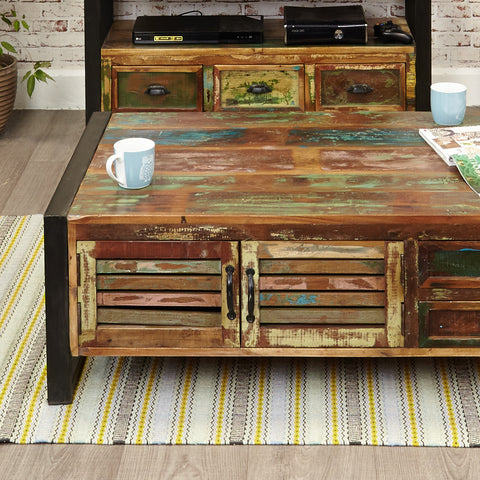 Baumhaus Urban Chic Four Drawer Large Coffee Table