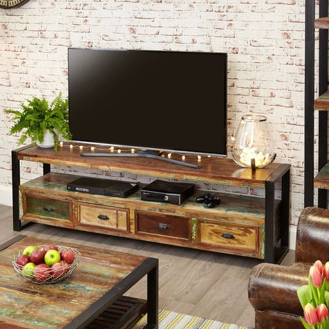 "Urban Chic Widescreen Television Cabinet (Up to 80"") - - Living Room by Baumhaus available from Harley & Lola - 1"