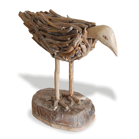 Driftwood Bird on Stand - - Living Room by Bluebone available from Harley & Lola