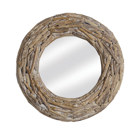 Driftwood Round Mirror - - Living Room by Bluebone available from Harley & Lola