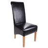 Krista Bonded Leather Chair -Black - Dining Room by Shankar available from Harley & Lola - 1