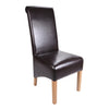 Krista Bonded Leather Chair -Brown - Dining Room by Shankar available from Harley & Lola - 3