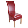 Krista Bonded Leather Chair -Burgundy - Dining Room by Shankar available from Harley & Lola - 4